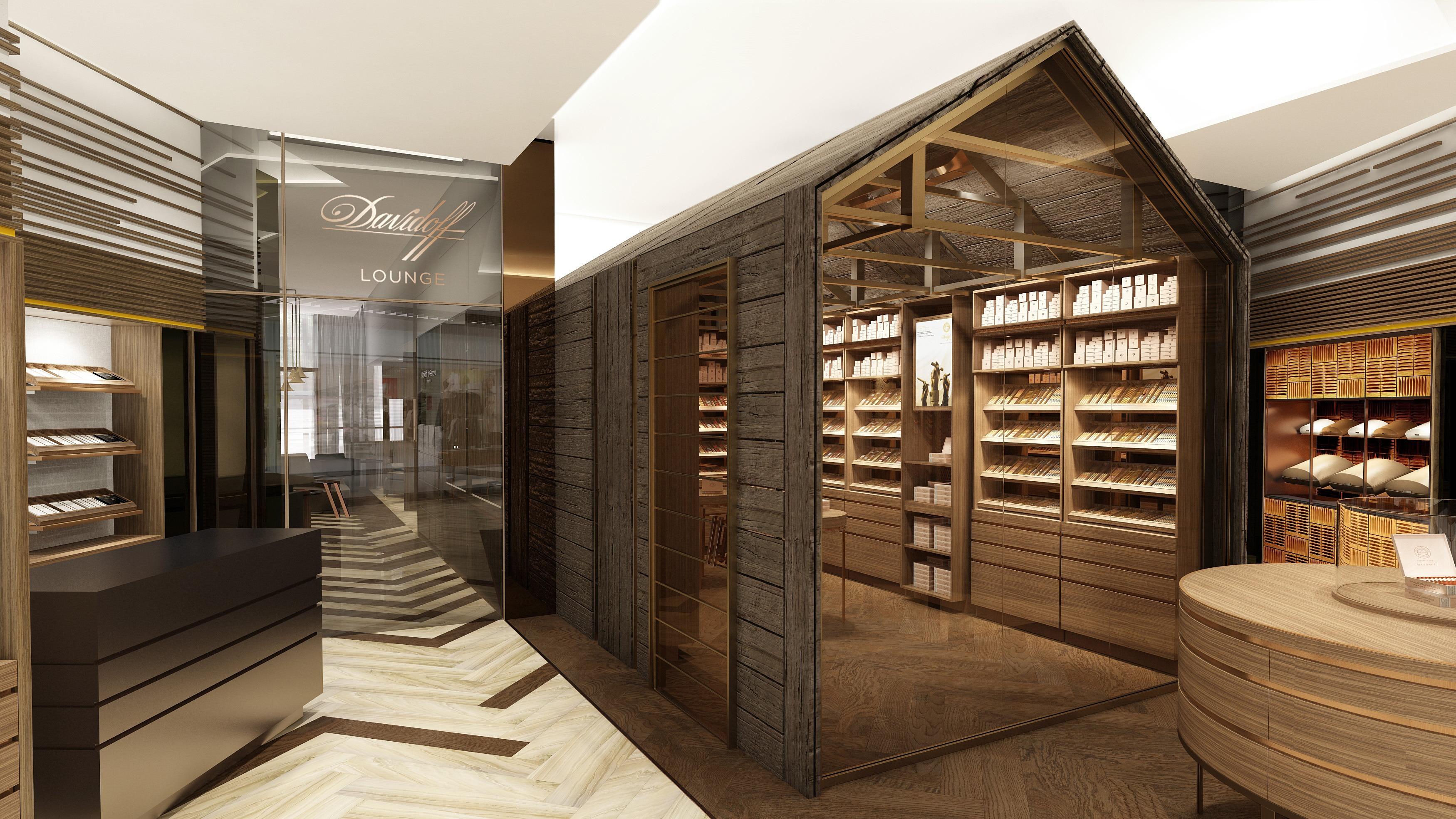 Modern Home Bar Design Layout Davidoff S Newest Flagship Store Coming To Lower Manhattan