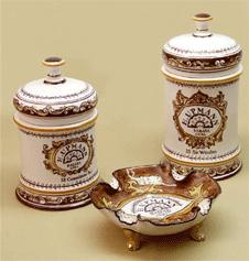 H. Upmann Ceramic Cigar Jars and ashtray.png