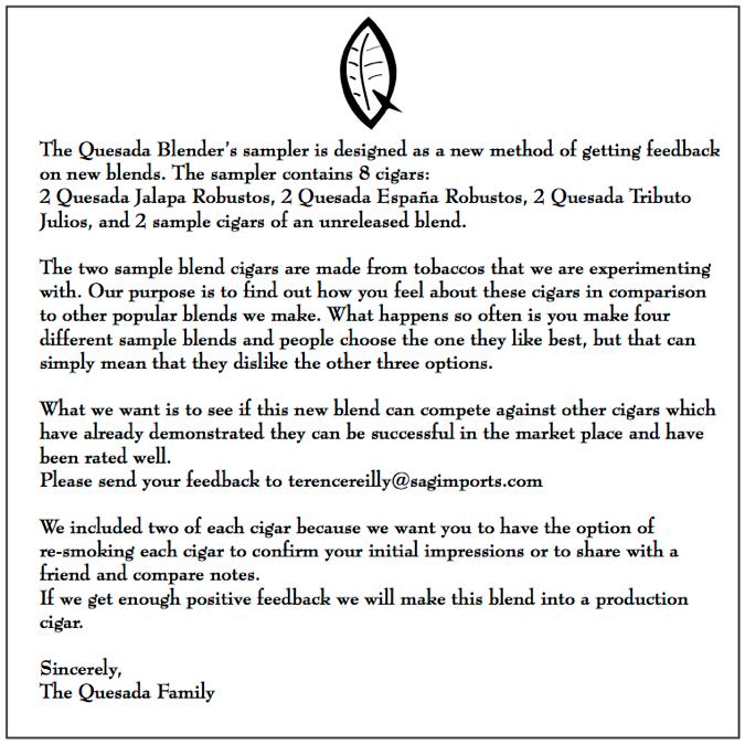 The Quesada Blender's Sampler Card.png