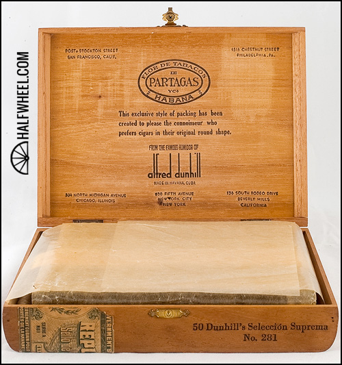Partagas Dunhill Seleccion Suprema No 281 Box 5