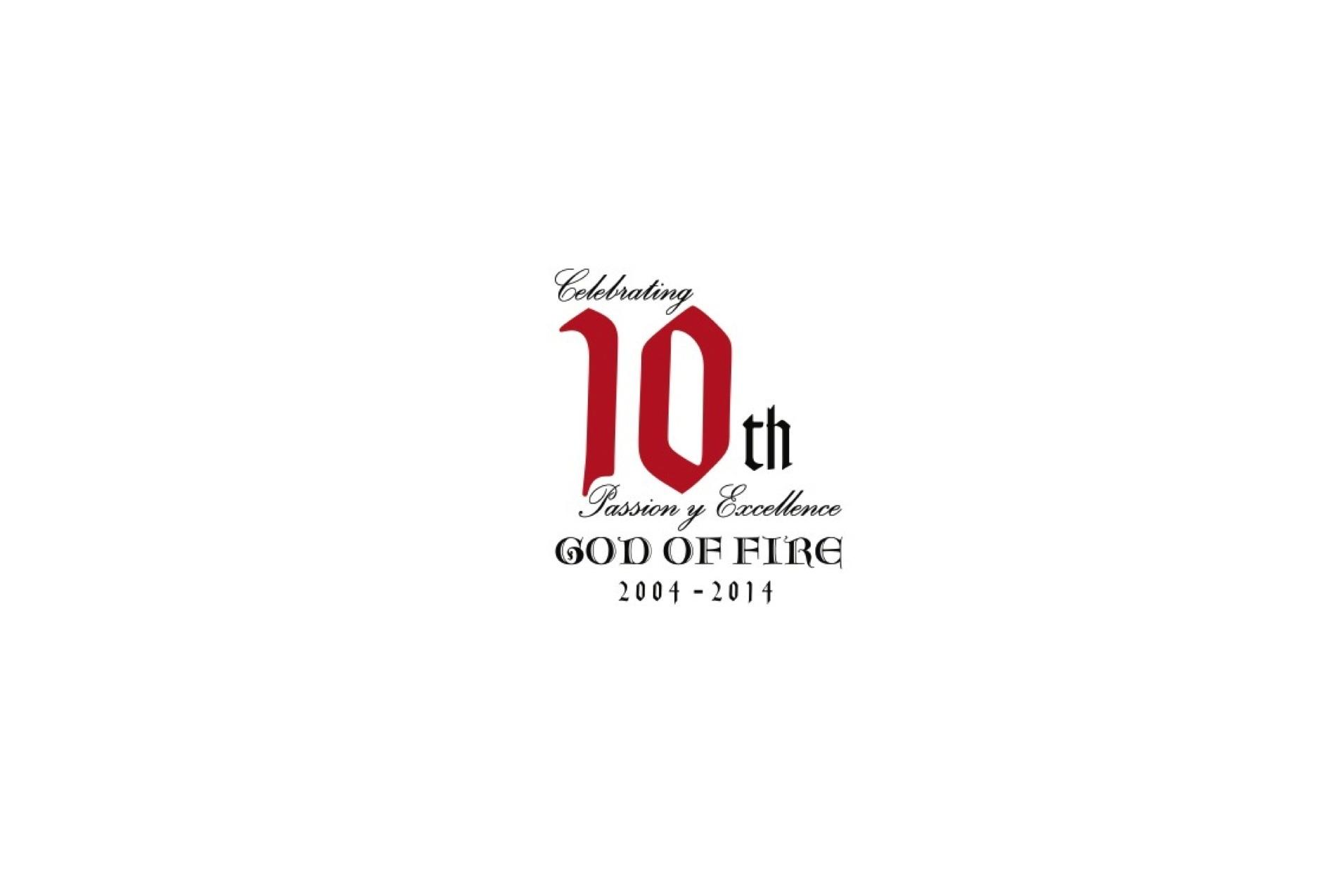 God of Fire 10th Anniversary Logo