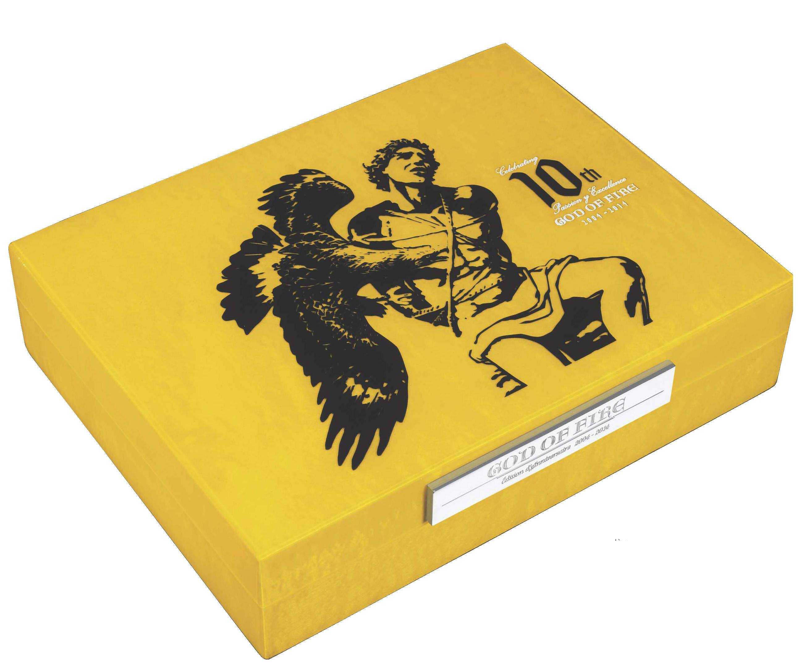 Prometheus 2014 God of Fire Travel Humidor yellow