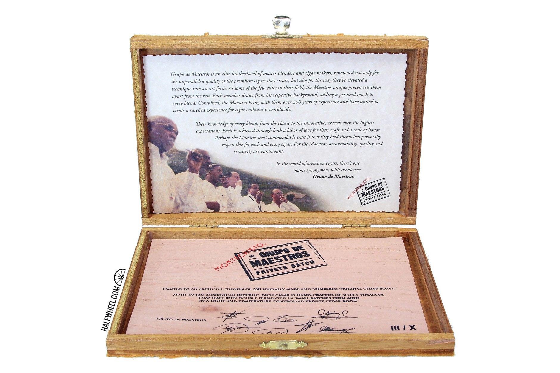 Montecristo Grupo de Maestros Private Batch Box 5