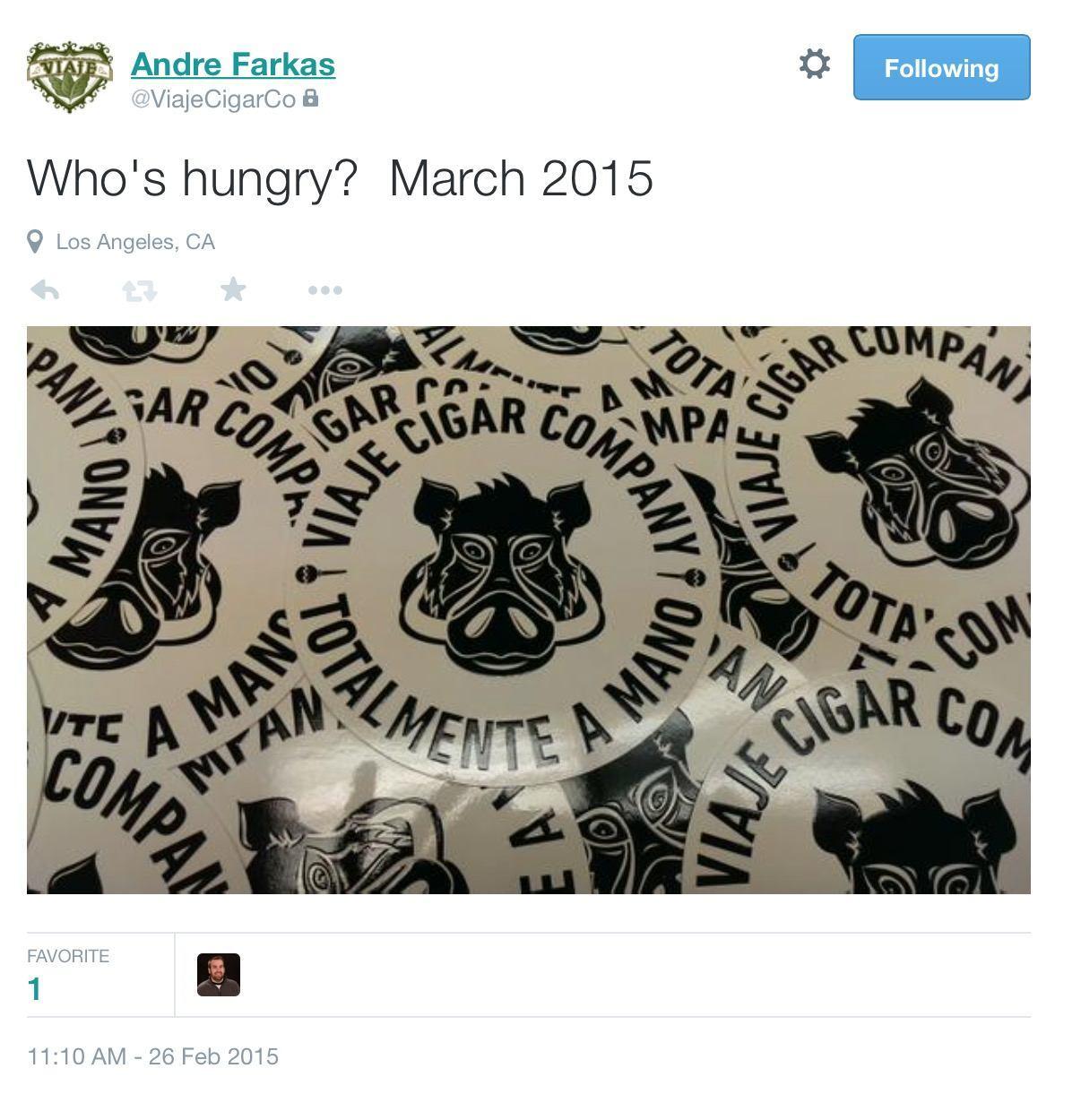 Viaje March 2015 Tweet