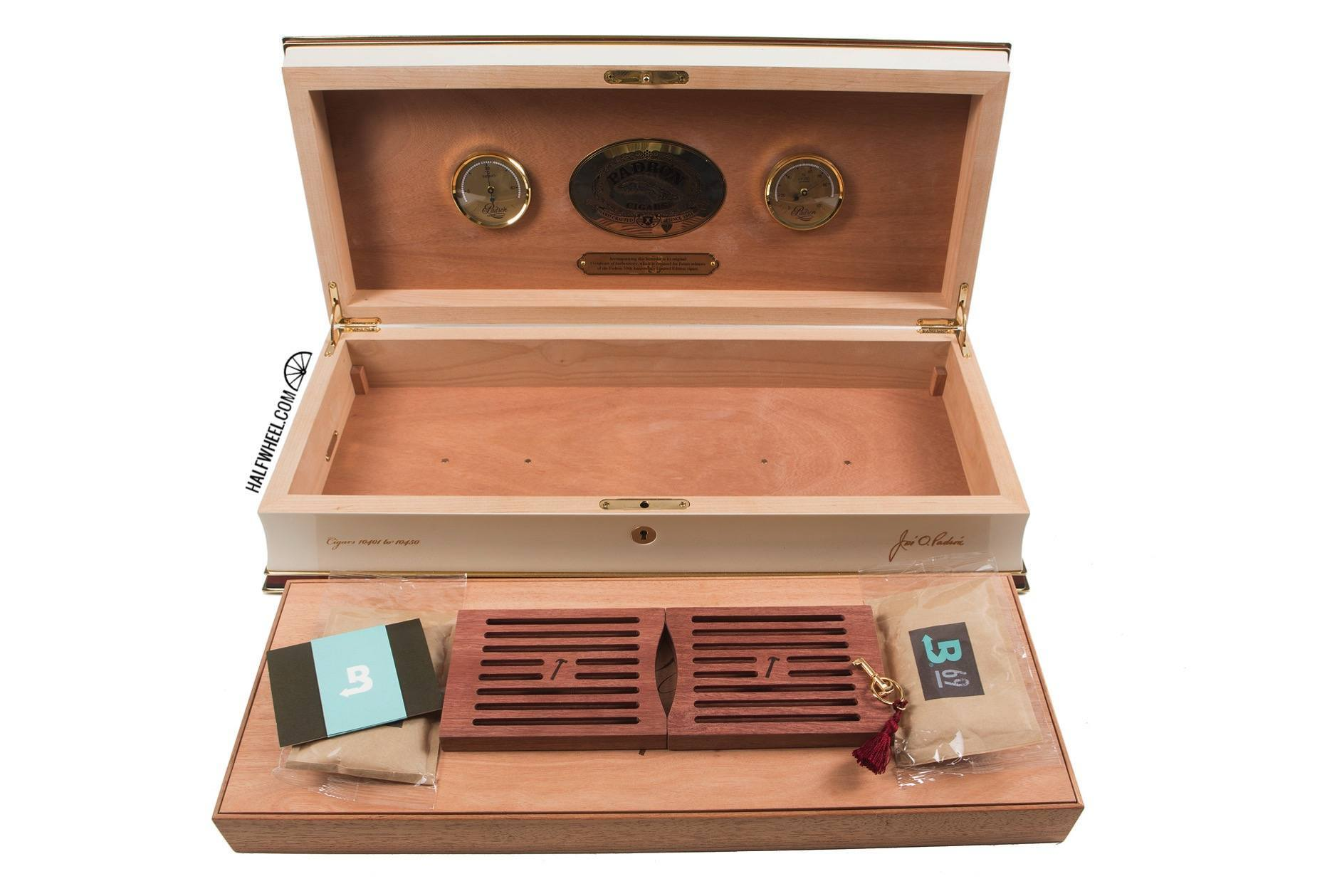 Padron 50th Anniversary Humidor includes