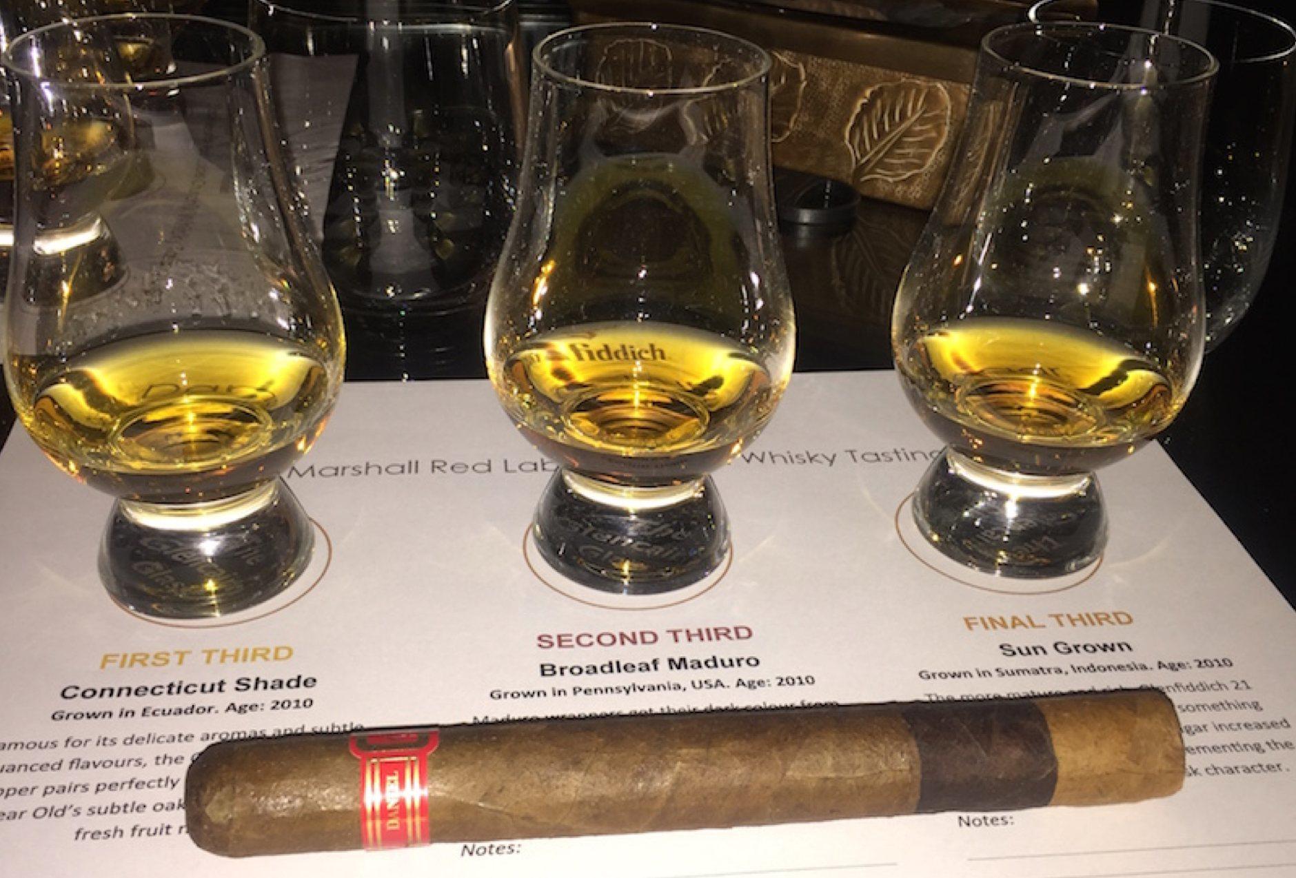 DM Red Label Glenfiddich Pairing Cigar