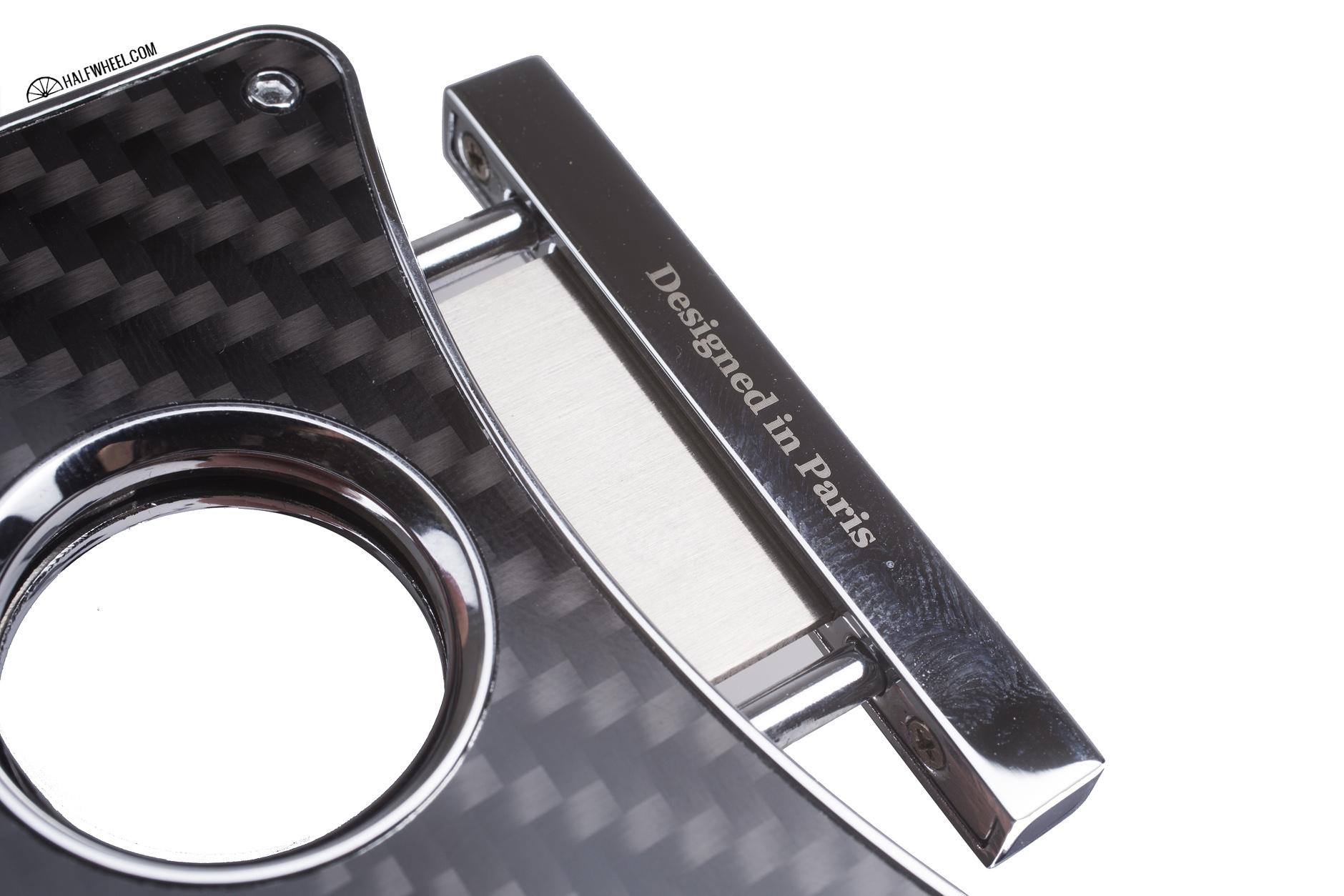 Caseti Dion Carbon Fiber Double Guillotine Cigar Cutter Paris