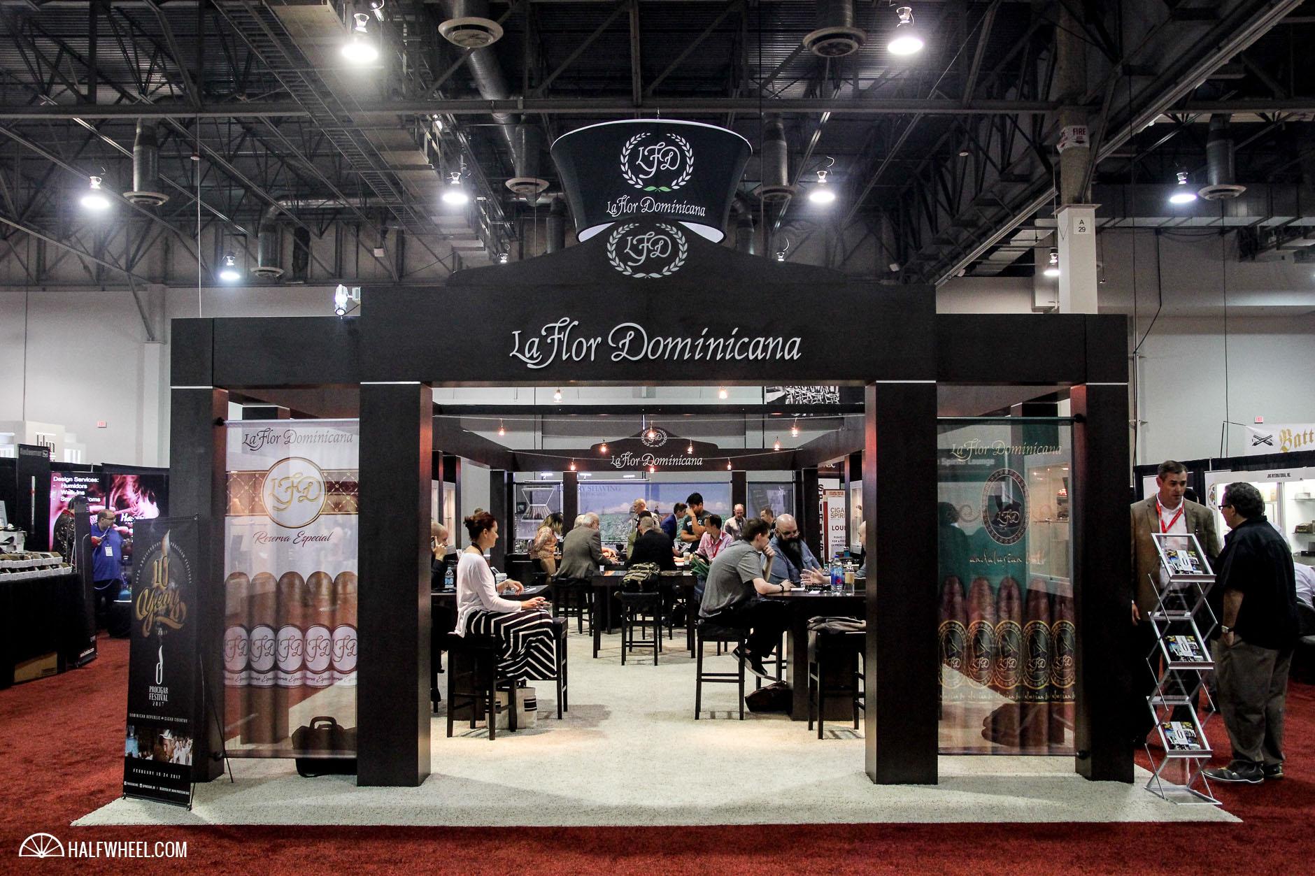 La Flor Dominicana booth ICPCR 2016