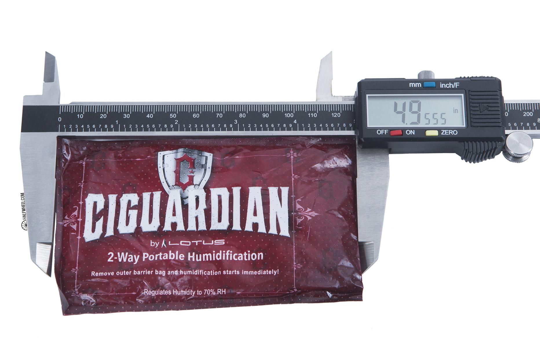Ciguardian Humidification Pack width