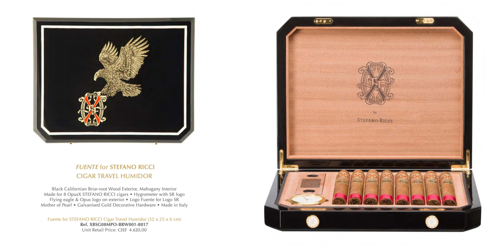 "15 x 15 x 7 cm Luxury Box Pack-Gift Box /""Stefano Ricci/"" Original"